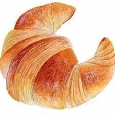 Croissant Art Food Illustration Archival By KendyllHillegas