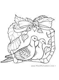 Dove Coloring Page Drawn 7 Cameron Pages