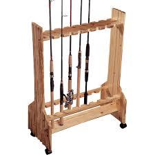100 Rod Racks For Trucks Rush Creek Wooden DoubleSided 16 Fishing Holder Rolling Floor