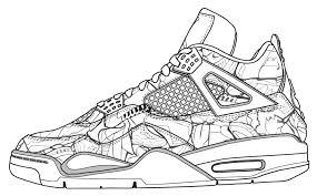 Jordan Coloring Pages Shoes 17 Shoe Colouring Page 2 Air
