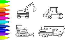 Learn Colors For Chidren With Construction Truck Coloring Pages, Car ... Cstruction Trucks Coloring Page Free Download Printable Truck Pages Dump Wonderful Printableor Kids Cool2bkids Fresh Crane Gallery Sheet Mofasselme Learn Color With Vehicles 4 Promising Excavator For Coloring Page For Kids Transportation Elegant Colors With Awesome Of