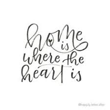 Lettering Design Home Is Where The Heart Happilyletterafter
