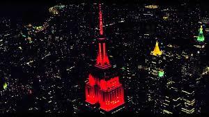 Empire State Building 2015 Halloween Light Show