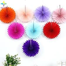 Tissue Paper Decorations Color Fans Flower Crafts Home Hanging Decoration Party Birthday Wedding