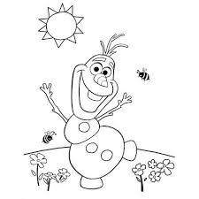 Stunning Coloring Disney Frozen Christmas Pages With Olafs Summer Page