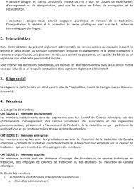 traduction siege social règlement administratif pdf