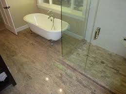 Groutless Ceramic Floor Tile by Tiles Create Ambience Your Desire With Travertine Tile Bathroom