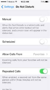 Apple iPhone 6 How to block ALL calls using Do Not Disturb DND