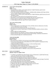 100 Agile Resume Developer Samples Velvet Jobs