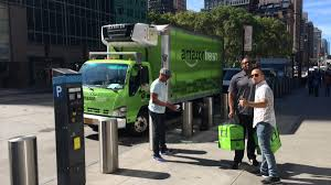 Spotted In NYC: Amazon Fresh Trucks - New York Business Journal Amazons New Delivery Program Not Expected To Hurt Fedex Ups Cnet Amazon Delivery Fail Amzl Drives In Yard Then Amazonfresh Rolls Into San Diego The Uniontribune Grocery Business Quietly Expands Parts Of New Putting Fedex Out Business Start Shipping Company Adds Tool Its Own Truck Trailers Chicago Tribune Threat Tries Its Own Deliveries Wsj Tasure Truck Is Coming Whole Foods Parking Lots Eater Amazoncom Postal Service Kids Toy Toys Games Has Changed The Way You Shop For Food Consumer Reports Prime Members Now Have Access Car Service Will Kill