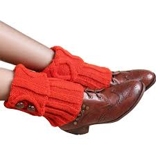 women leg warmers rhombus crochet boot cuffs socks knitted leg