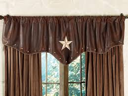 Pennys Curtains Valances by Western Valances With Star Starlight Trails Chocolate Star