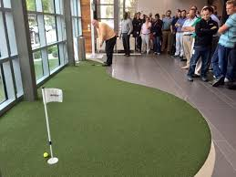 Quiet please our nationalgolfday office putting challenge is