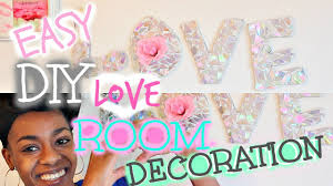 DIY Room Decoration EASY Holographic LOVE Wall Art