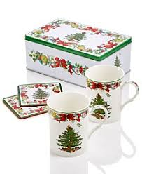 Spode Christmas Tree Mug Cafe Shape by Large Coffee Mugs Ceramic Glass U0026 Copper Macy U0027s