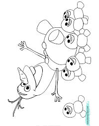 coloring page Olaf Snowgies