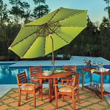 Solar Lighted Patio Umbrella by Solar Outdoor Lighting Ideas Improvements Blog