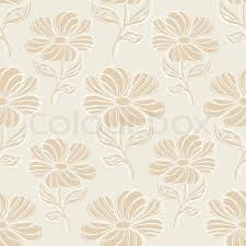 Vintage Floral Background Brown Seamless Pattern Floor Tiles Flower Ornament For Decoration And Design
