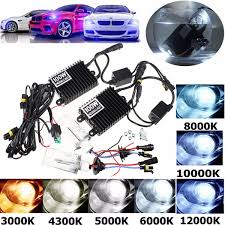 100w hid kit ac ballast h1 xenon bulbs l 4300k 12000k sale