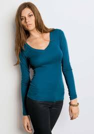 women u0027s long sleeve sheer v neck 100 cotton t shirt