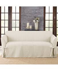 Sure Fit Dual Reclining Sofa Slipcover by Reclining Sofa Slipcover Ribbed Texture Chocolate Adapted For Dual