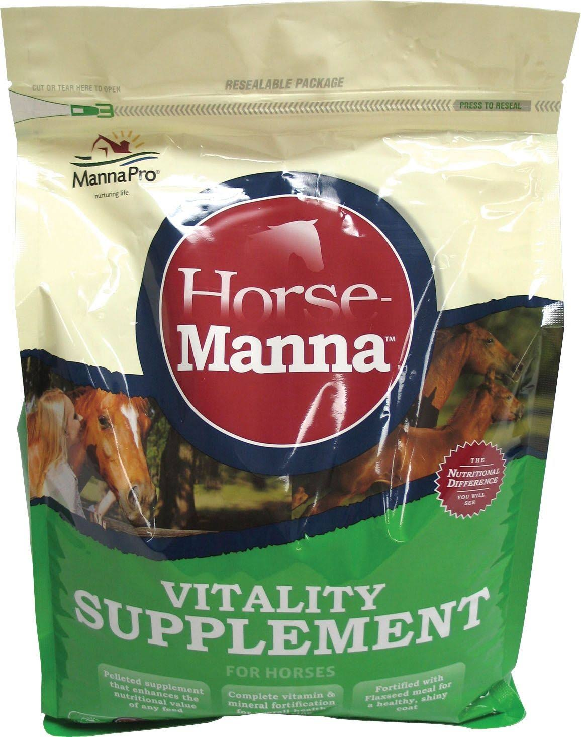 Manna Pro Vitality Equine Horses Supplement - 11.25lbs