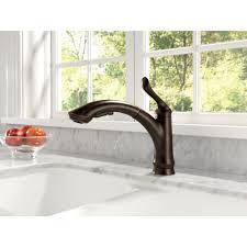 Delta Trinsic Kitchen Faucet Black by Delta Faucet 4353 Dst Linden Polished Chrome Pullout Spray Kitchen