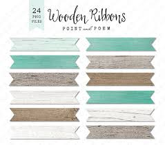 Banner Clip Art Wood Ribbon Labels White Rustic Texture Turquoise Wedding