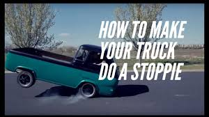 100 Econoline Truck Can A Truck Do A Stoppie Yes 1962 Pickup On 2 Wheels