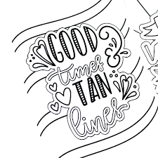 This Summer Fun Coloring Pages Pack Includes 9 Hand Drawn And Lettered Designs That You
