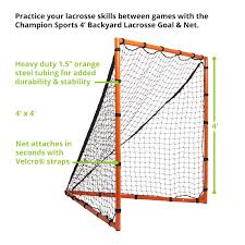 Amazon.com: Champion Sports Backyard Lacrosse Goal: 4x4 Girls ... 6x6 Folding Backyard Lacrosse Goal With Net Ezgoal Pro W Throwback Dicks Sporting Goods Cage Mini V4 Fundraiser By Amanda Powers Lindquist Girls Startup In Best Reviews Of 2017 At Topproductscom Pvc Kids Soccer Youth And Stuff Amazoncom Brine Collegiate 5piece3inch Flat Champion Sports Gear Target Sheet 6ft X 7 Hole Suppliers Manufacturers Rage Brave Shot Blocker Proguard