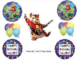 Alvin And The Chipmunks Cake Decorations by Amazon Com Alvin And The Chipmunks Happy Birthday Party Balloons