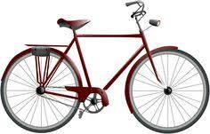Vector Clip Art Of A Bicycle Red Two Wheeler Bike Drawing
