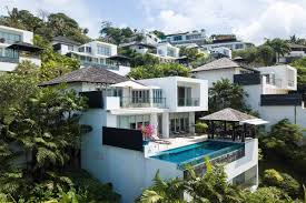 100 Houses In Phuket 4 Bedroom Sea View Pool Villa For Sale Near Surin Beach