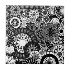 black and white ceramic tiles zazzle