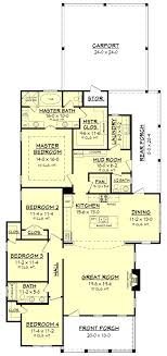 Traditional Style House Plan 4 Beds 2 50 Baths 2203 Sq Ft Plan