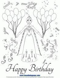 Disneys Frozen Anna Birthday Party Coloring Page