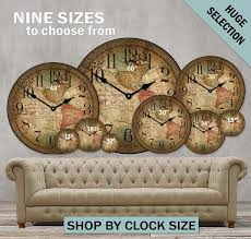 customizable large wall clocks big clocks the big clock store
