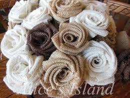 10pcs Lot 5 Colors Handmade Burlap Fabric Roses Shabby Chic Flowers Natural Color Rustic Wedding