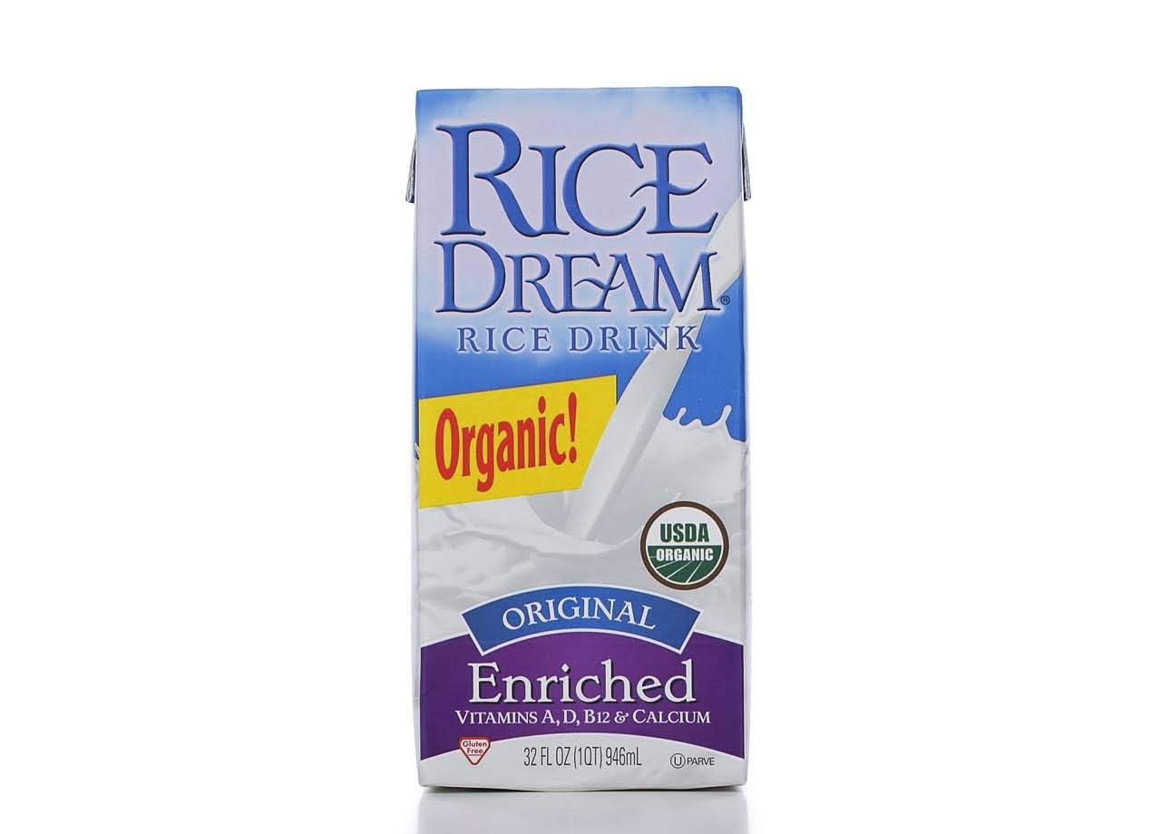 Rice Dream Organic Enriched Rice Drink, Original - 32 fl oz carton