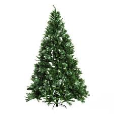 Black Fiber Optic Christmas Tree 7ft by Aosom Homcom 7 Feet Artificial Christmas Tree Pre Lit 350