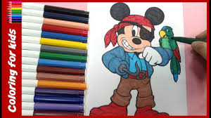 Mickey Mouse Halloween Coloring Pictures by Halloween For Kids How To Color Disney Halloween Mickey Mouse