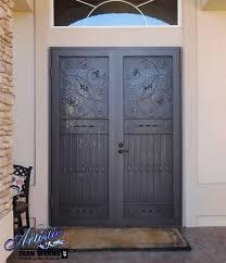 Inspiration Idea Metal Security Double Doors With Door Remodel 12