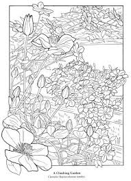 The Flower Garden Adult Coloring Book