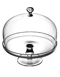 Footed Cake Plate With Dome Cover Luigi Bormioli The Bay $41 99