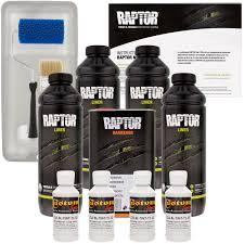100 White Truck Bed Liner Raptor GM Urethane SprayOn Kit RollerTray