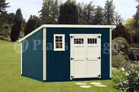 shed plans 10 x 12 deluxe modern roof style d1012m free