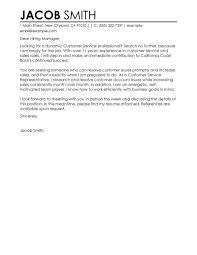 Examples Resume Cover Letters For Customer Service Examples of