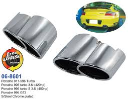 Exhaust Tips Tailpipe Trims Set S/Steel Chrome Plated For Porsche ... Best Chrome Exhaust Tips For Trucks Amazoncom My Truck Rolling Coal 12in Diesel Tip Youtube Patriot Exhaust H7321 Street Rod Megaphone Tip Chrome Pilot Automotive Ex1024 Omega Black Walmartcom Awe Tuning C7 Audi S7 40t Track System Car Auto Ppipe Grilled Shark Fin Stainless Steel Muffler Dual Round Double Wall Forward Slash Cut Tips Assured Company Blog 47784 Monster Single Exit Use With Mustang 212 Turndowns Restoparts Chevelle 196972 Oval Opgicom