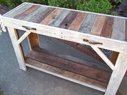 Reclaimed Pallet Table Entry Sofa By ShopOnSmithStreet
